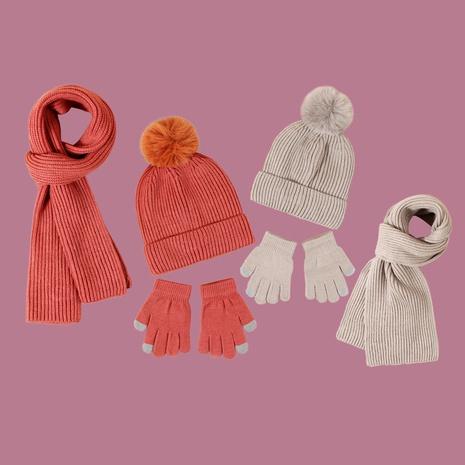 Guantes de bufanda de sombrero de color puro para niños NHTQ288108's discount tags