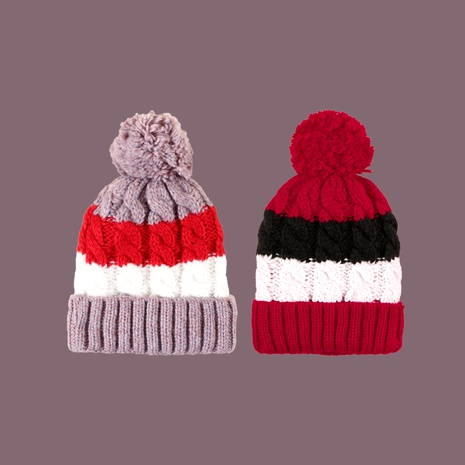 color matching wool ball knitted hat  NHTQ288111's discount tags