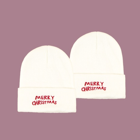 White knitted wool hat  NHTQ288118's discount tags