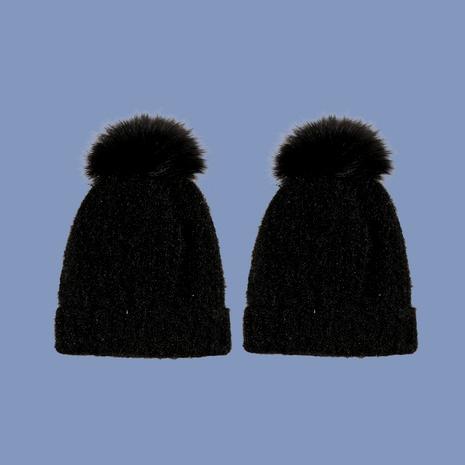 sombrero de punto de seda brillante de bola de lana de moda NHTQ288136's discount tags