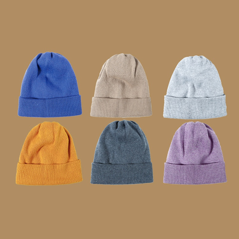 pure color big knit hat  NHTQ288138