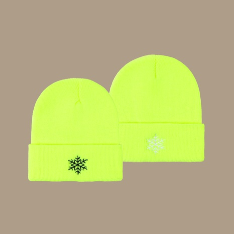 Fluorescent knitted hat  NHTQ288144's discount tags