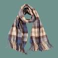 NHTQ1294657-Fashion-Cloth-Mark-Check-Scarf-Blue-200CM