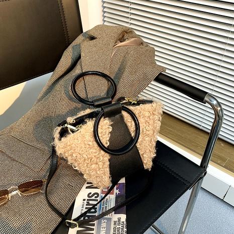 nuevo bolso cubo de moda de felpa peluda NHJZ288608's discount tags