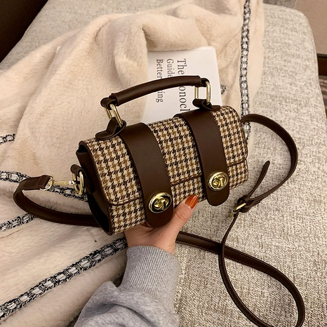 new trendy fashion houndstooth single shoulder underarm bag NHJZ288610's discount tags
