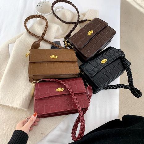 fashion solid color single shoulder bag NHLH288718's discount tags
