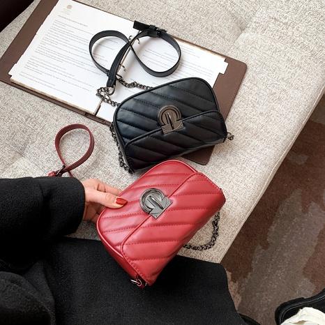 nueva bolsa de sillín de textura de moda NHRU288751's discount tags
