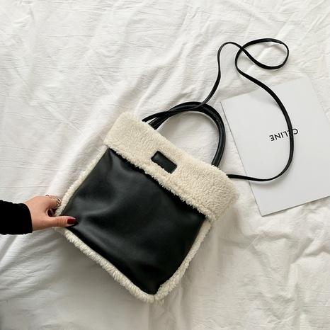 bolso de mensajero de un solo hombro de felpa retro nuevo informal NHRU288762's discount tags