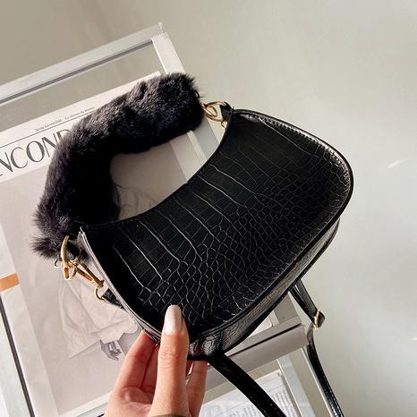 new trendy fashion wild one-shoulder underarm bag  NHRU288789's discount tags