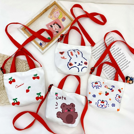 Korean children's canvas bag  NHTG288793's discount tags