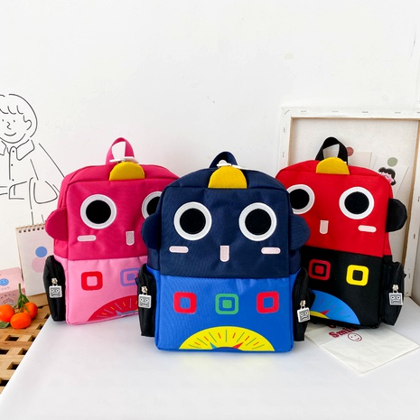 children's toddler school bag cartoon robot printing backpack wholesale NHTG288803's discount tags