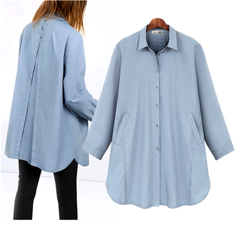 plus size cotton casual long sleeve shirt  NHIS290204's discount tags