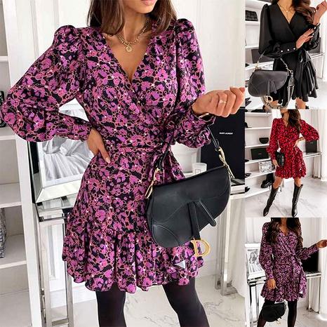 vestido floral estampado de manga larga NHJC290188's discount tags