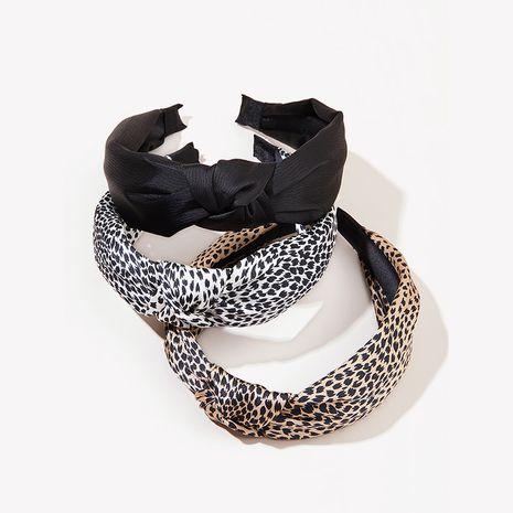 Diadema con estampado de leopardo retro NHGE277644's discount tags