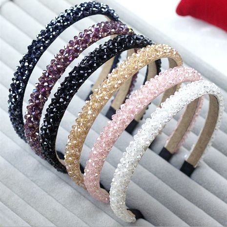 Bandeau doux de mode perlé en cristal coréen NHGE277651's discount tags