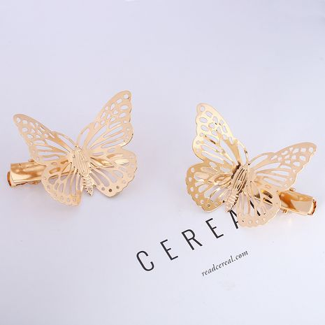 fashion retro all-match hollow butterfly hairpin NHGE277677's discount tags