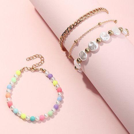 Bracelet chaîne de perles de riz de forme spéciale coréenne NHNU277704's discount tags