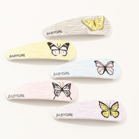 butterfly pattern cute hair clip NHAU277816's discount tags