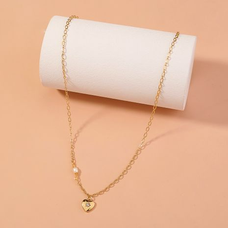small diamond pendant freshwater rice beads necklace NHAN277834's discount tags