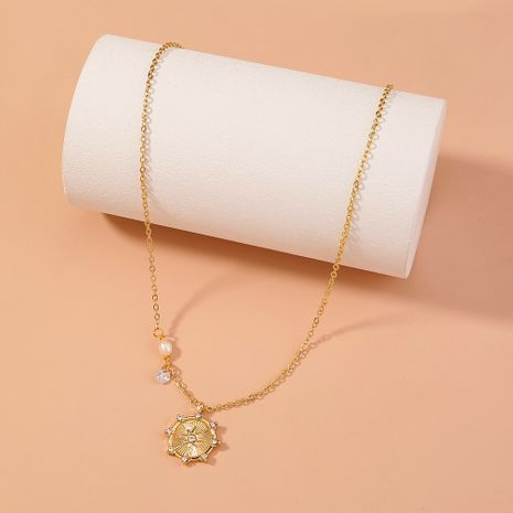sky star diamond natural freshwater pearl pendant zircon necklace NHAN277839's discount tags