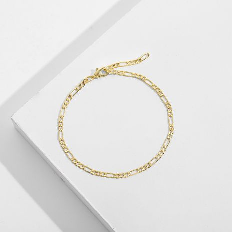 simple gold alloy bracelet NHLL277880's discount tags