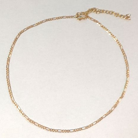gold-plated simple geometric necklace  NHLL277886's discount tags