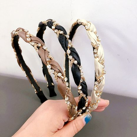 New Korean  PU braided diamond chain all-match headband  NHHI277955's discount tags