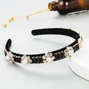 Korean simple retro flower pearl headband  NHLN277590