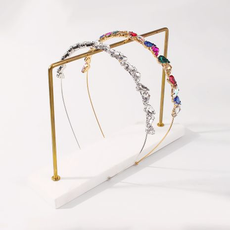 Diadema geométrica de diamantes de moda coreana NHMD277608's discount tags