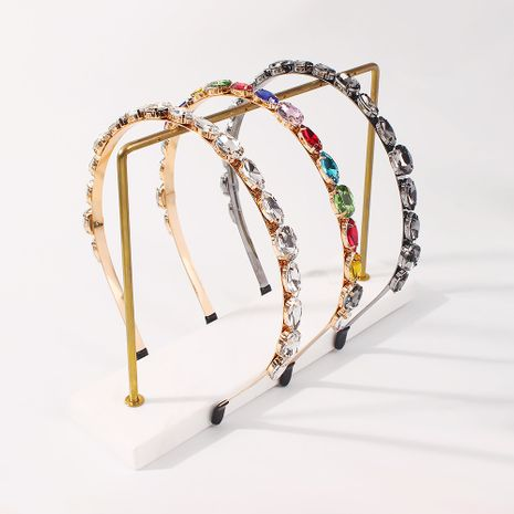 fashion new colorful rhinestone headband NHMD277611's discount tags