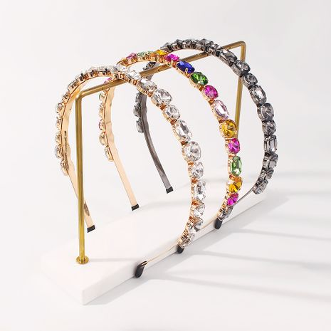 fashion rhinestone exaggerated fashion trendy headband NHMD277613's discount tags