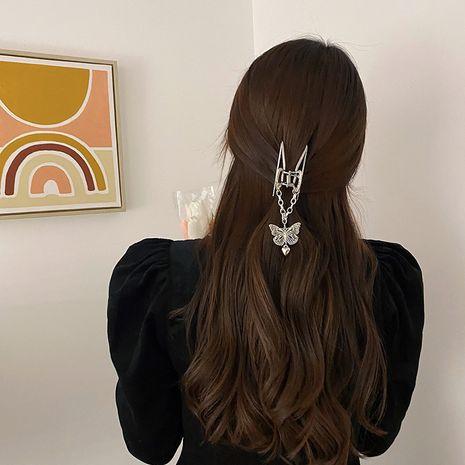 butterfly elegant rhinestone metal hair catch clip  NHCQ277020's discount tags