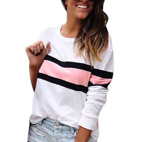Langärmliger, runder Pullover mit rundem Halsausschnitt NHEK278158's discount tags