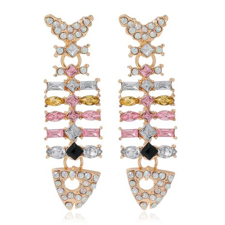 fashion metal exaggerated earrings NHSC278712's discount tags