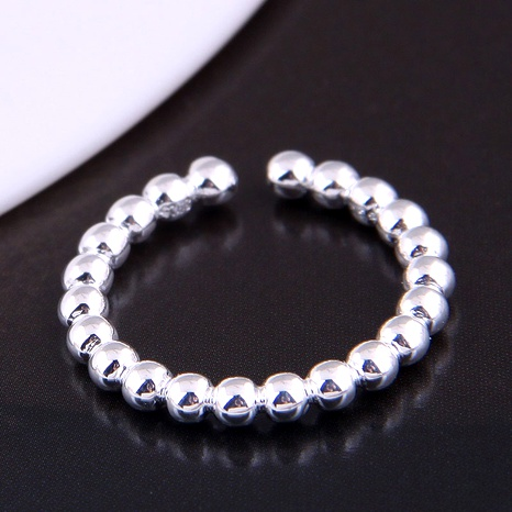Korean fashion simple bead  open ring NHSC289349's discount tags