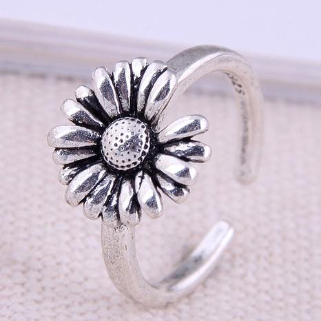 Bague d'ouverture fleur rétro simple mode coréenne NHSC289343's discount tags