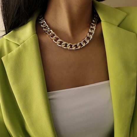 punk style aluminum chain necklace  NHXR289113's discount tags