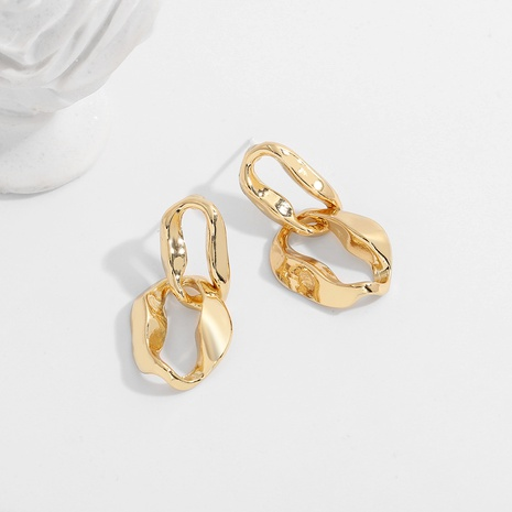 fashion metal simple irregular earrings NHJQ289118's discount tags