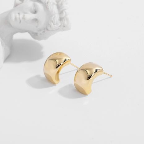 retro semicircular copper earrings NHJQ289121's discount tags
