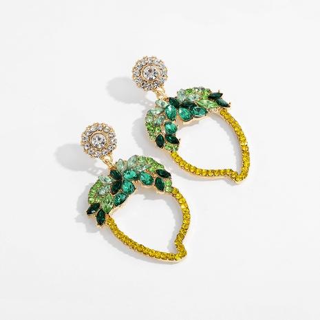 hohle grüne Blattohrringe aus Diamantlegierung NHJQ289123's discount tags