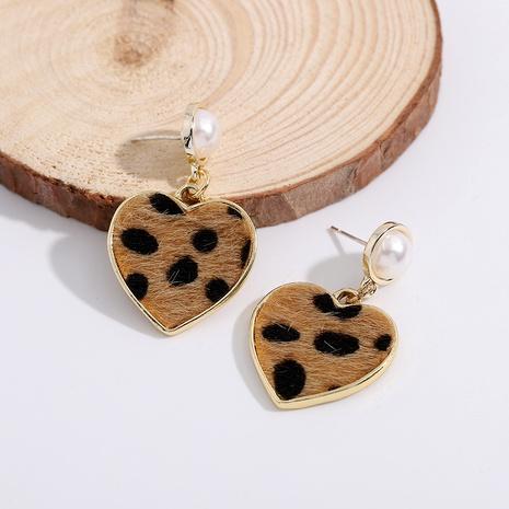 Pendientes con patrón de leopardo de perlas de moda de aguja de plata 925 NHJQ289122's discount tags
