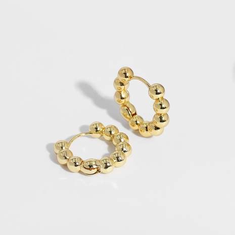 retro simple copper gold circle earrings  NHJQ289120's discount tags