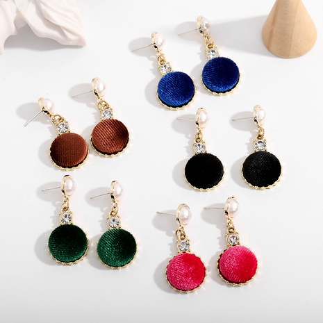 Multicolor hair ball plush retro 925 silver needle earrings NHJQ289126's discount tags