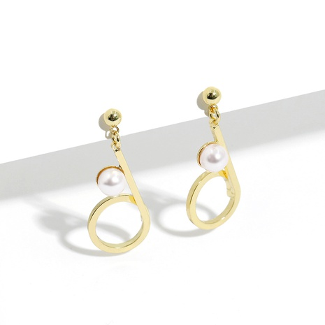 pearl copper gold-plated fashion earrings  NHJQ289135's discount tags