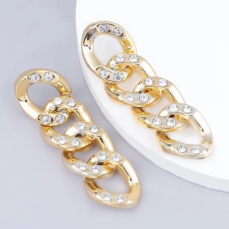 diamond-studded acrylic earrings  NHJE289145's discount tags