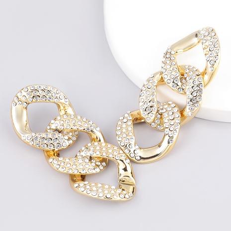 diamond-studded acrylic fashion earrings NHJE289146's discount tags