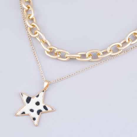 multilayer alloy star pendant necklace  NHJE289148's discount tags