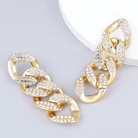 fashion diamond-studded acrylic earrings  NHJE289150's discount tags