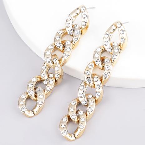 Fashion diamond-studded acrylic earrings  NHJE289147's discount tags