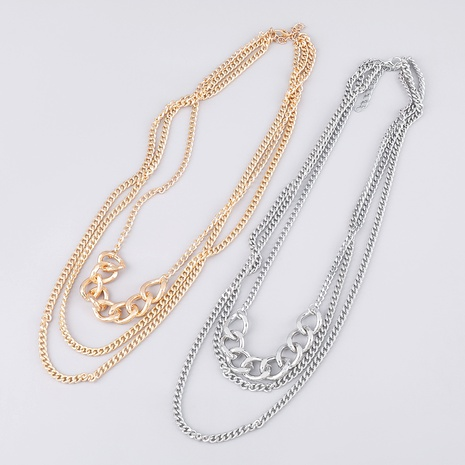 alloy multi-layer simple necklace  NHJE289166's discount tags